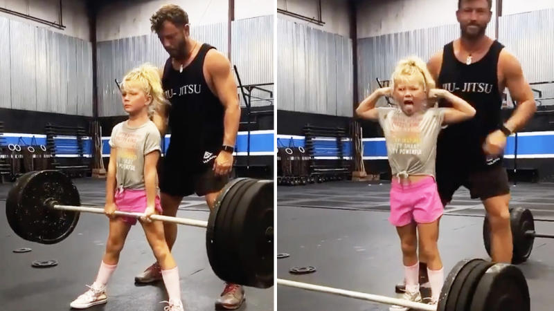 Brodie Bowen dead-lifting 43kh. (Instagram: House of Highlights)