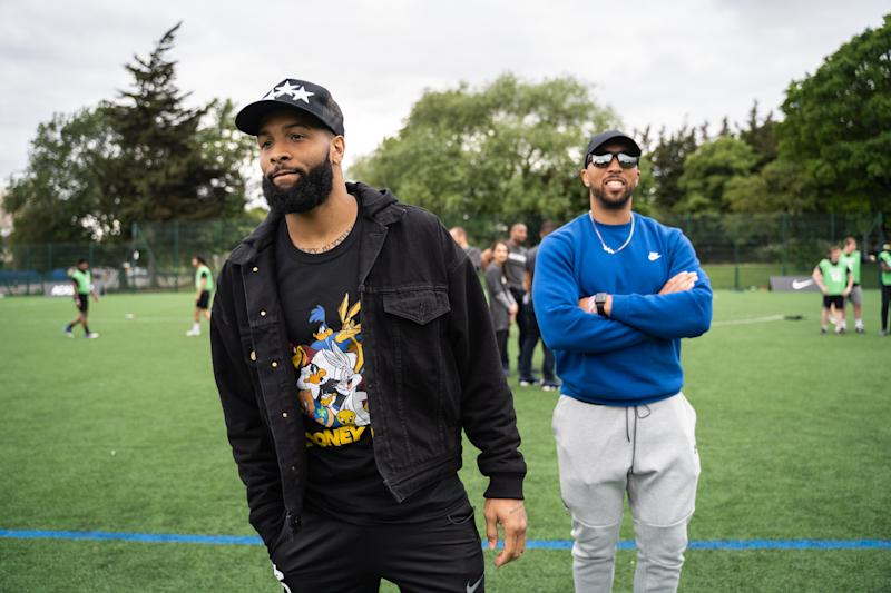 Odell Beckham Jr attending the NFL academy in London (NFL/Romel Birch)