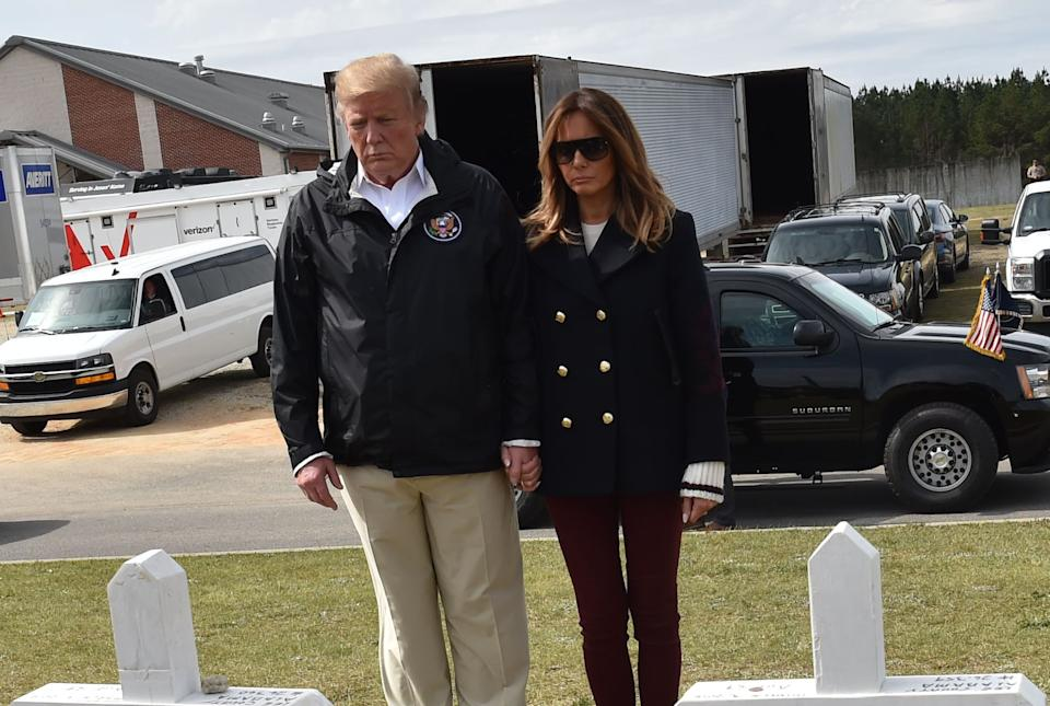 This photo reignited claims that the First Lady is frequently impersonated by a body double. Photo: Getty Images