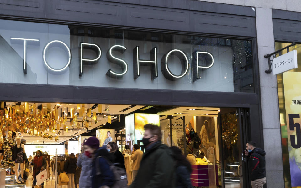 Topshop's flagship store on Oxford Street in London. Photo: KGC-254/Star Max/IPx/Getty