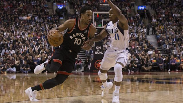 "<a class=""link rapid-noclick-resp"" href=""/olympics/rio-2016/a/1128527/"" data-ylk=""slk:DeMar DeRozan"">DeMar DeRozan</a> and the <a class=""link rapid-noclick-resp"" href=""/nba/teams/tor/"" data-ylk=""slk:Toronto Raptors"">Toronto Raptors</a> are a confident bunch as the postseason draws near."