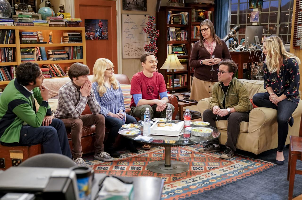 """And just like that, 12 seasons of this beloved CBS sitcom came to an end with a resounding <em>bazinga.</em> Following the journey of these seven characters has been an emotional ride for die-hard fans, most of which agree that the <a href=""""https://www.glamour.com/story/the-big-bang-theory-season-12-series-finale-recap?mbid=synd_yahoo_rss"""">series finale</a> did not disappoint. Audiences received closure, got some unexpected news, and left feeling hopeful for the gang's future (and the functioning elevator). Stream seasons 1 through 11 on <a href=""""https://fave.co/2PsBEzU"""" rel=""""nofollow"""" target=""""_blank"""">Netflix</a> and catch up with season 12 on <a href=""""https://amzn.to/36CcsMY"""" rel=""""nofollow"""" target=""""_blank"""">Amazon Prime</a> or the <a href=""""https://www.tbs.com/apps"""" rel=""""nofollow"""" target=""""_blank"""">TBS app</a>."""