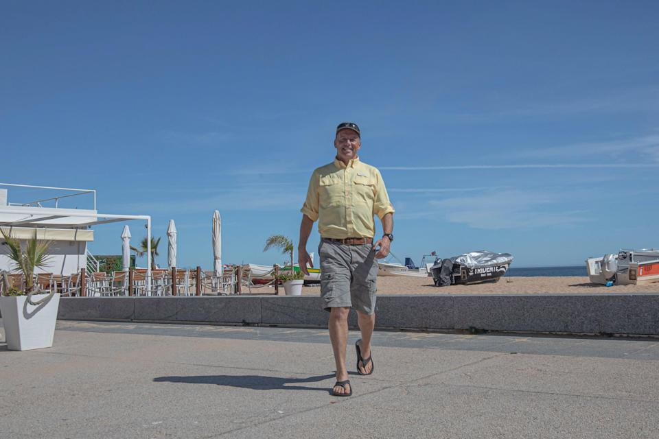 <p>Angry man on a lonely planet: Paul Goldstein in Portugal</p> (Simon Calder)