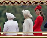 """<p><a href=""""https://www.goodhousekeeping.com/beauty/fashion/g3650/kate-middletons-most-controversial-outfits/"""" rel=""""nofollow noopener"""" target=""""_blank"""" data-ylk=""""slk:Kate Middleton"""" class=""""link rapid-noclick-resp"""">Kate Middleton</a> wore this bright red Alexander McQueen dress to an event where the rest of the royal family was wearing more muted colors. The <em><a href=""""https://www.dailymail.co.uk/femail/article-2154264/Kate-Middleton-Duchess-Cambridges-scarlet-Diamond-Jubilee-dress-stole-show.html"""" rel=""""nofollow noopener"""" target=""""_blank"""" data-ylk=""""slk:Daily Mail"""" class=""""link rapid-noclick-resp"""">Daily Mail</a> </em>wrote a pretty harsh article accusing her of trying to """"steal the show."""" </p>"""