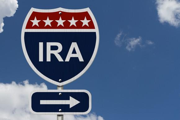 Road sign with IRA on it.