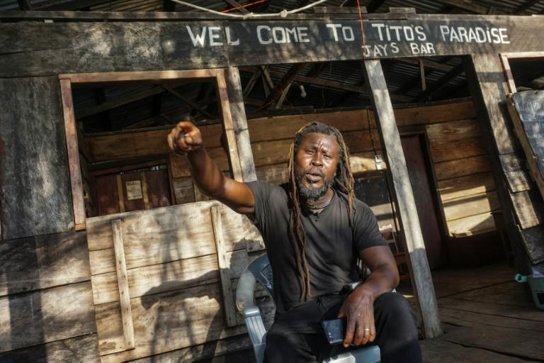 Eco-lodge owner Tommy Gbandewa is leading resistance to the Chinese-funded harbour plan