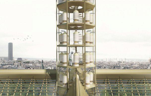 PHOTO: NAB Design founder Nicolas Abdelkader's proposal would turn Notre Dame's roof into a greenhouse dedicated to training the unemployed in urban agriculture, horticulture and permaculture. (Nicolas Abdelkader)