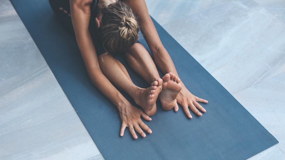Yoga exercises at home.