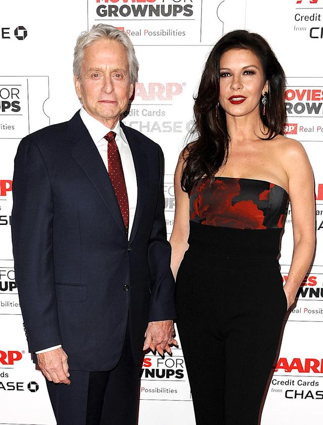 "<p>The actors married in 2000, but by 2013, they were ready for a break — or at least they were taking one, a source told <i>People</i>. Fast forward a few months, and the couple reunited and it felt… so good. ""Sometimes we spend more efforts with people that are strangers in terms of making an impression than the <a href=""http://people.com/celebrity/michael-douglas-says-hes-learned-not-to-take-love-for-granted/"" rel=""nofollow noopener"" target=""_blank"" data-ylk=""slk:person that's closest"" class=""link rapid-noclick-resp"">person that's closest</a> to us,"" Douglas later told <i>CBS This Morning</i> of the break. ""And you just gotta remember not to take for granted that person that's closest to you."" (Photo: Jason LaVeris/FilmMagic) </p>"