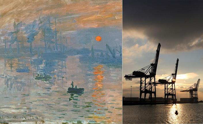 """At the beginning of 1873, <em>Impressionism</em> was a term no one had ever uttered before. By the end of that year, it was a movement bound to change the course of history. The two major reasons for this was Claude Monet's painting <em>Impression, Sunrise</em>, which depicts boats entering the port at Le Havre in northern France, and the critic Louis Leroy's opinion of the piece, in which he surmised, """"Impression I was certain of it. I was just telling myself that, since I was impressed, there had to be some impression in it—and what freedom, what ease of workmanship! A preliminary drawing for a wallpaper pattern is more finished than this seascape."""" Thus, the term <em>Impressionism</em> was coined."""