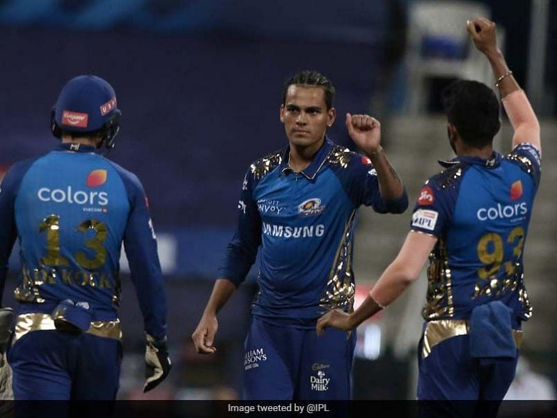 Rahul Chahar has become a mainstay for the Mumbai Indians [PC: IPL Twitter]