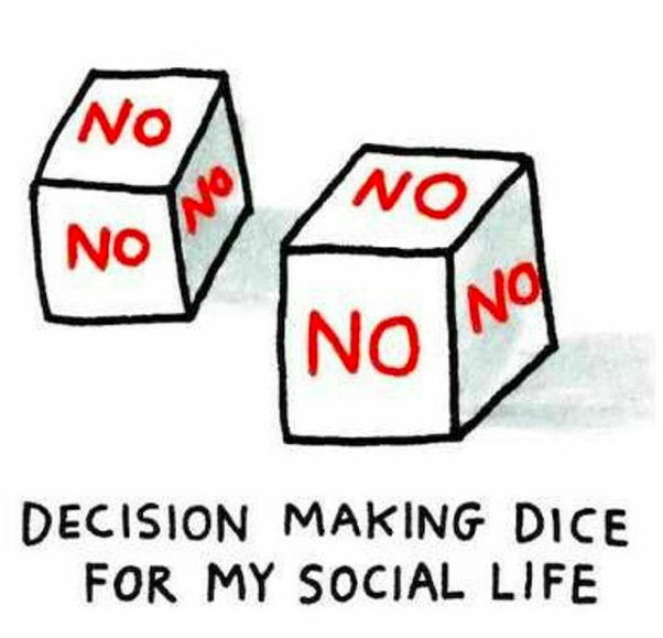 decision making dice for my social life: dice that say no on all sides