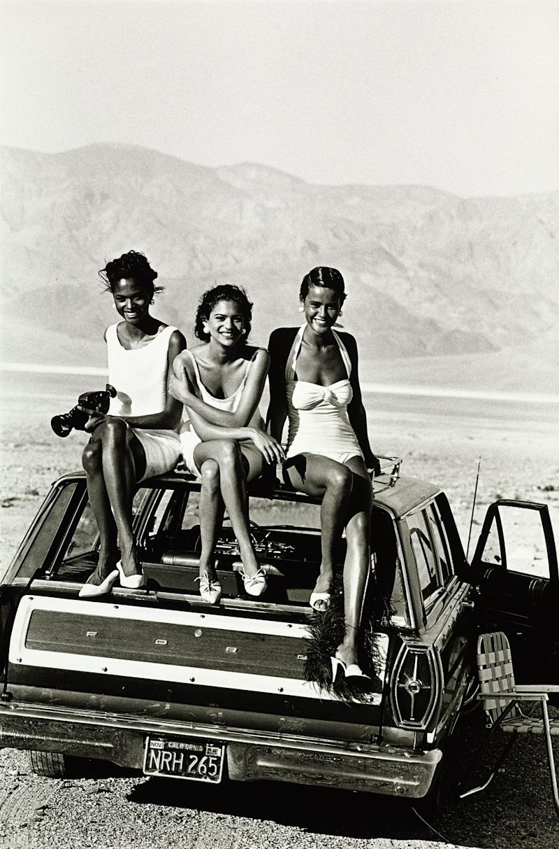 """Star Turns,"" with models, from left: Karen Alexander, Ana Grenah, and Nadège du Bospertus"