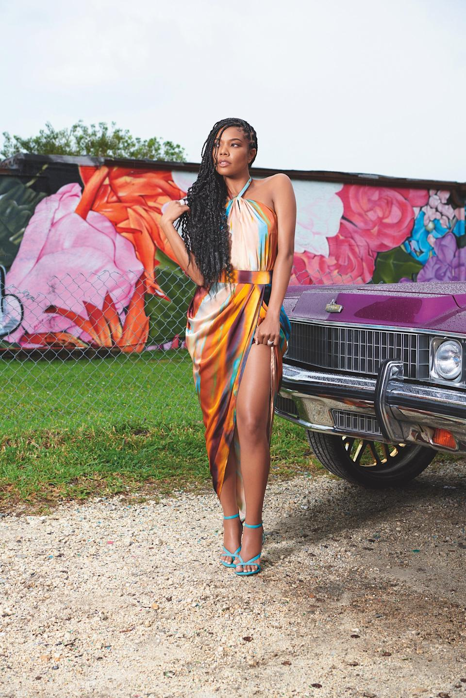 """<br> <br> <strong>New York & Company x Gabrielle Union</strong> Print Halter Dress, $, available at <a href=""""https://go.skimresources.com/?id=30283X879131&url=https%3A%2F%2Fwww.nyandcompany.com%2Fprint-halter-dress-gabrielle-union-collection%2FA-prod20620039%2F%3FAn%3D675084437%26prodNo%3D2"""" rel=""""nofollow noopener"""" target=""""_blank"""" data-ylk=""""slk:New York & Company"""" class=""""link rapid-noclick-resp"""">New York & Company</a> <span class=""""copyright"""">Photographed by Nino Muñoz.</span>"""