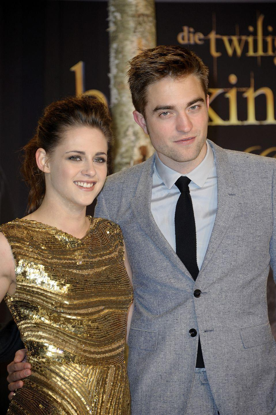 """<p>The <em>Twilight</em> stars fulfilled my 13-year-old self's dreams by dating IRL. Then, they crushed them when photos of Kristen getting cozy with another man (her married director for <em>Snow White and the Huntsman</em>) surfaced in 2012, according to <a href=""""https://www.eonline.com/news/869256/kristen-stewart-and-robert-pattinson-5-years-later-how-they-bounced-back-after-the-affair"""" rel=""""nofollow noopener"""" target=""""_blank"""" data-ylk=""""slk:E! News"""" class=""""link rapid-noclick-resp""""><em>E! News</em></a>. After Kristen publicly apologized, R-Patz forgave her...but the two broke up the following year.</p>"""