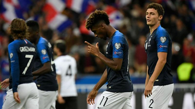 France 4-1 Albania: Griezmann penalty miss matters little as Coman leads the way in Paris