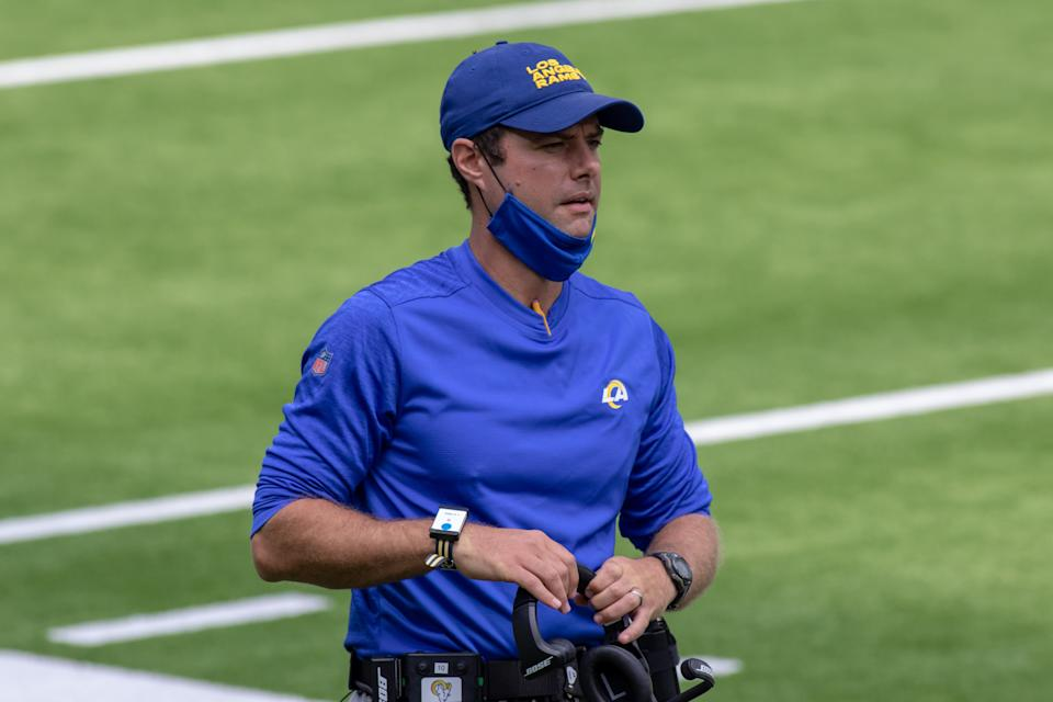 Rams defensive coordinator Brandon Staley is the Chargers' next head coach. (Jevone Moore/Icon Sportswire/Getty Images)