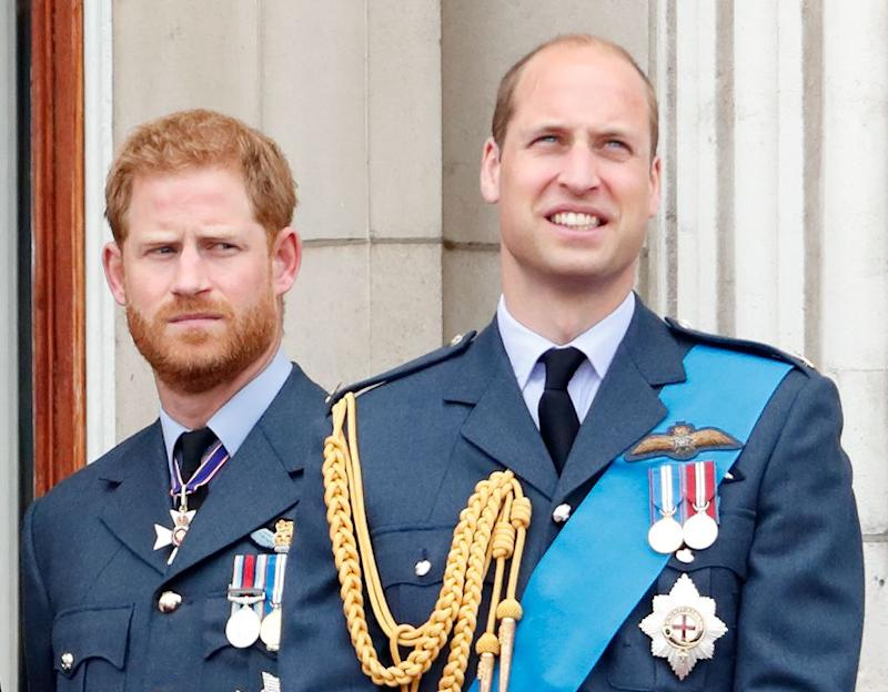 Prince Harry and Prince William on Buckingham Palace balcony