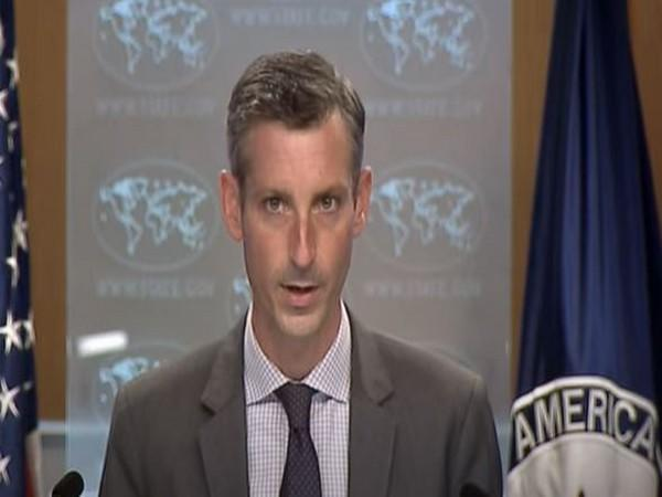 US State Department Spokesperson Ned Price at a press briefing on Thursday.