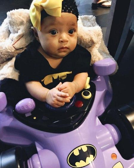 <p>Super baby! Alexis Olympia, daughter of the tennis great, celebrated her first Halloween dressed as the cutest Batman we've ever seen. (Photo: Serena Williams via Instagram) </p>