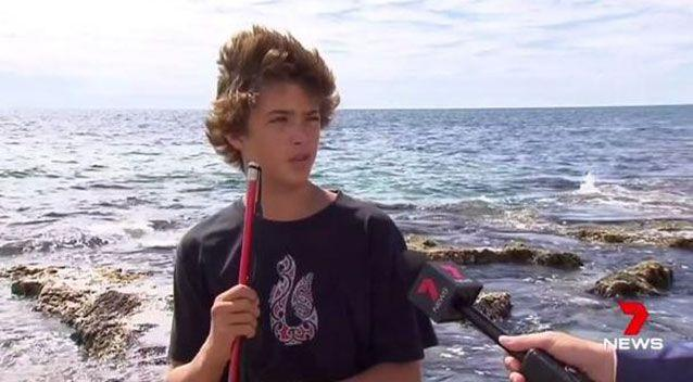 A 14-year-old Mandurah boy has told of the terrifying moment he fended off a two-metre shark. Source: 7 News