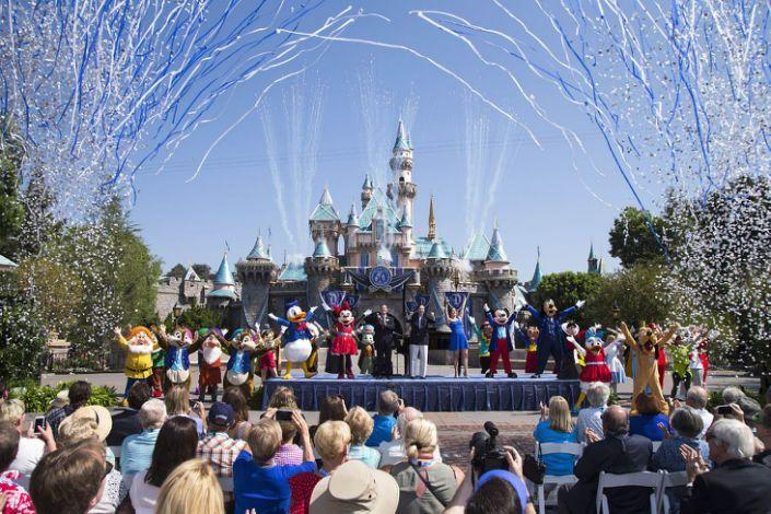 Parque da Disneyland em Anaheim, Califórnia Paul Hiffmeyer/Getty