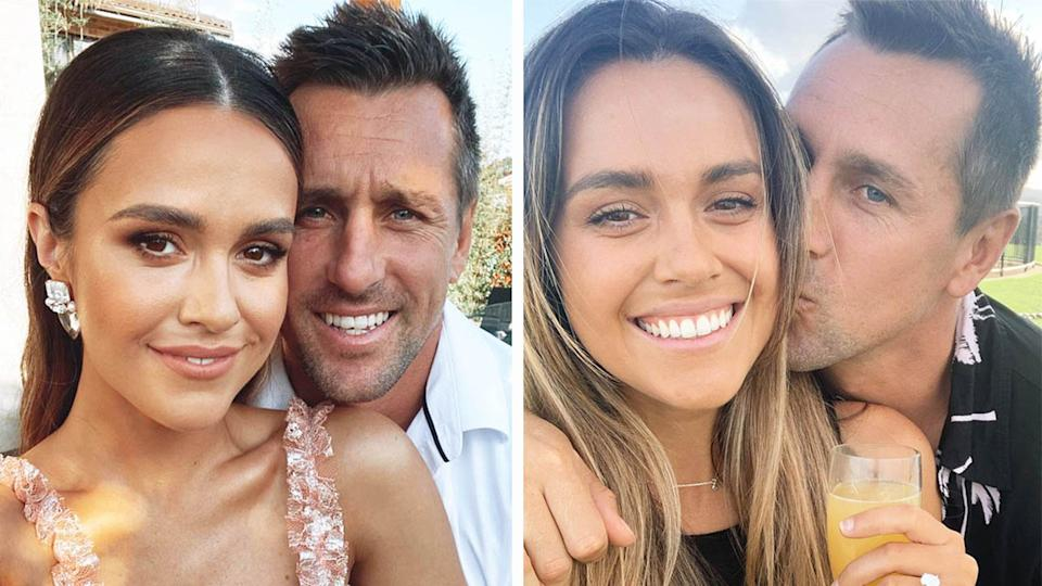 Mitchell Pearce (pictured) posing with his fiance Kristin Scott.