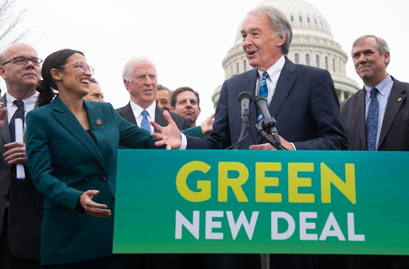 "Congressional Democrats including Representative Alexandria Ocasio-Cortez and Senator Ed Markey have introduced a framework to battle climate change known as the ""Green New Deal,"" which will promote clean energy programs across the United States"