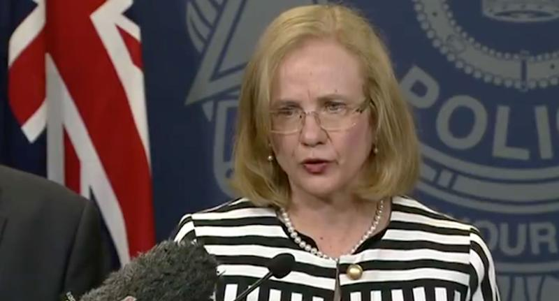 Sewing needles have been found in Berrylicious and Berry Obsession strawberries bought in Woolworths. Queensland Police believe they are coming from a farm in southeast Queensland. Source: 7 News Pictured: Queensland chief health officer Jeanette Young