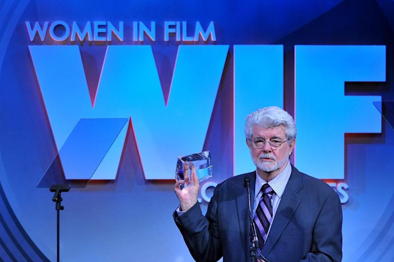 Director George Lucas attends the Women in Film's 2013 Crystal + Lucy Awards at The Beverly Hilton Hotel on Wednesday, June 12, 2013 in Beverly Hills, Calif. (Photo by Vince Bucci/Invision/AP)