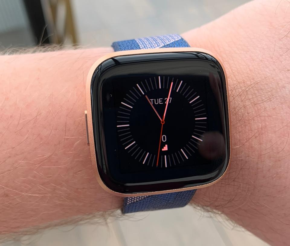 The Fitbit Versa 2 has an improved AMOLED display, but will still cost just $199. (Image: Howley)