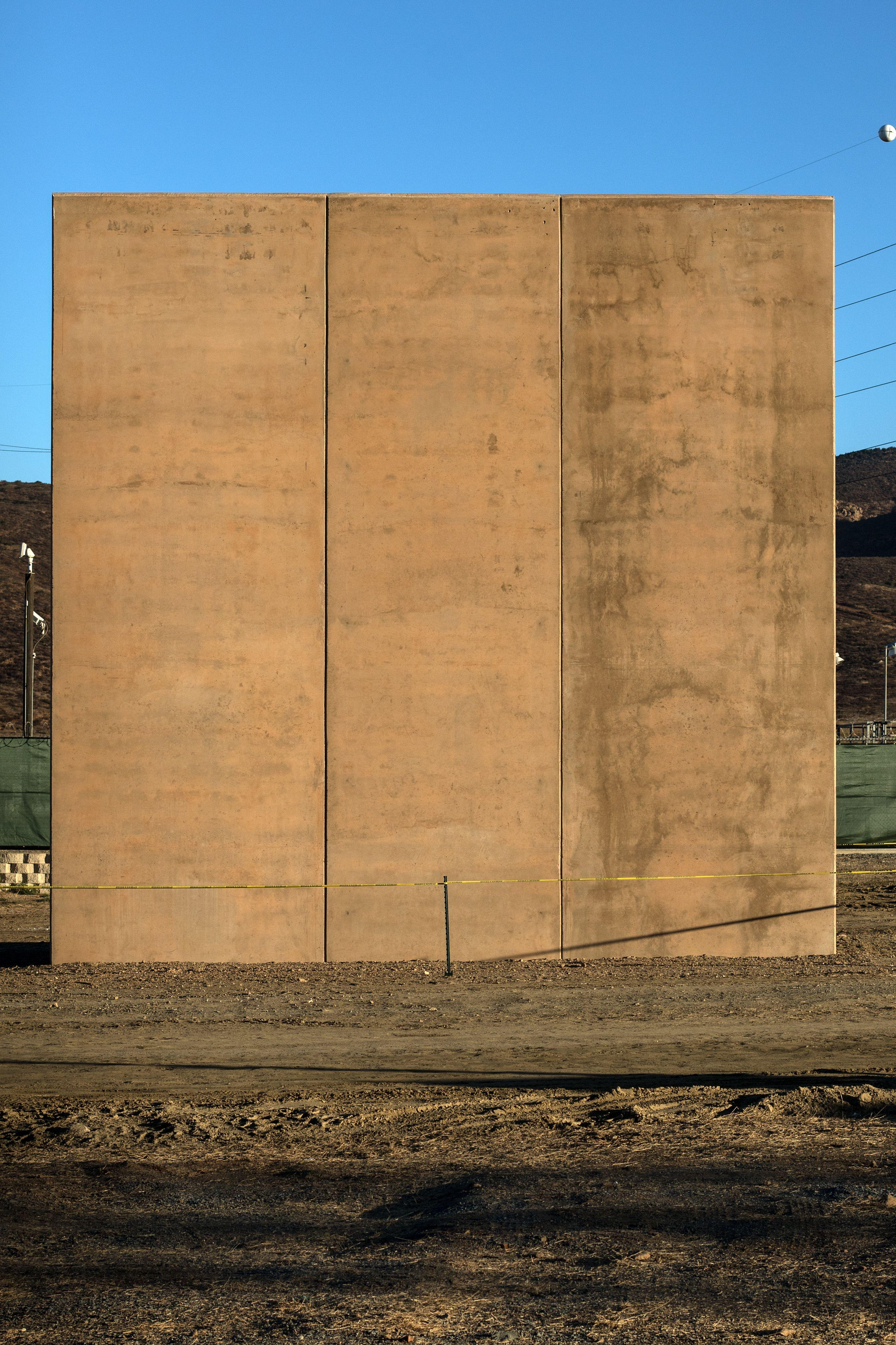Six companies have built the eight walls (Picture: Getty)