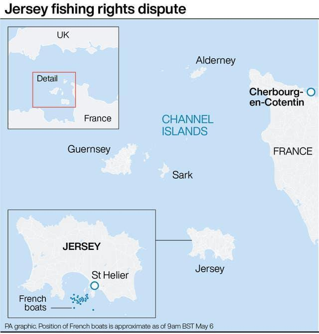 Jersey fishing rights dispute