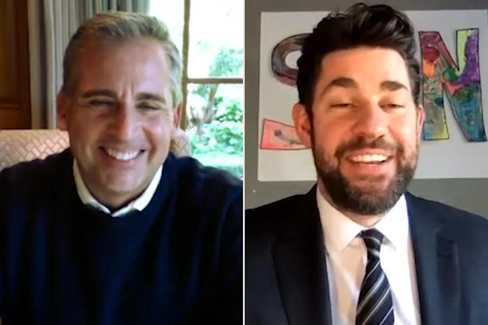 """<p>For the <a href=""""https://people.com/tv/john-krasinski-steve-carell-the-office-reunion-15th-anniversary/"""" rel=""""nofollow noopener"""" target=""""_blank"""" data-ylk=""""slk:15th anniversary of the fan-favorite sitcom"""" class=""""link rapid-noclick-resp"""">15th anniversary of the fan-favorite sitcom</a>, John Krasinski and Steve Carell got together over video chat to talk about their favorite moments from the show. The chat was filmed as part of Krasinski's new YouTube show S<em>ome Good News</em>.</p> <p>""""So Steve, this week marked a huge anniversary for you and I. We were on a little show called <em>The Office</em> and it turned 15 years old this week,"""" Krasinski said.</p> <p>""""I was a waiter when I got that job, I was 23 years old. After the pilot, I went back to waiting tables because I was sure nothing was going to happen with it. We all kind of came into it with that vibe. I remember none of us had done anything huge,"""" the actor added as Carell laughed on.</p> <p>""""It's such a happy surprise that after all these years people are still tuning in and finding it today, it's pretty cool,"""" Carell said.</p>"""
