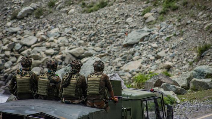 India has been sending reinforcements to the border
