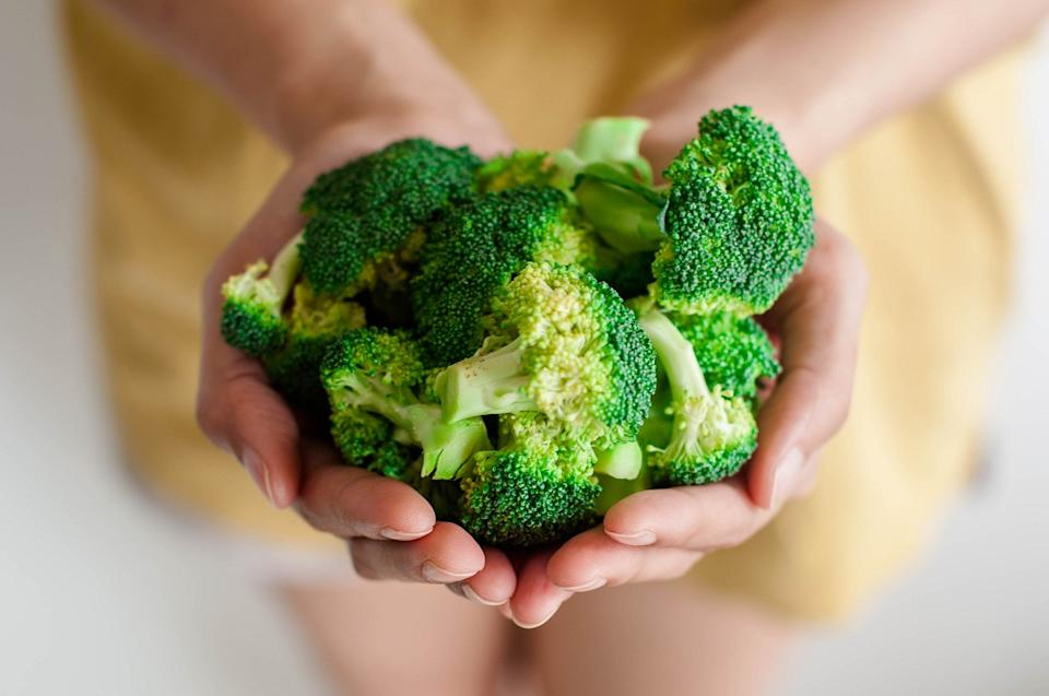 A cup of broccoli weighing around 76 grams (g) contains 3% to 3.5% of a person's daily need for calcium, 45–54% of their daily need for vitamin C, and 64–86% of their daily need for vitamin K