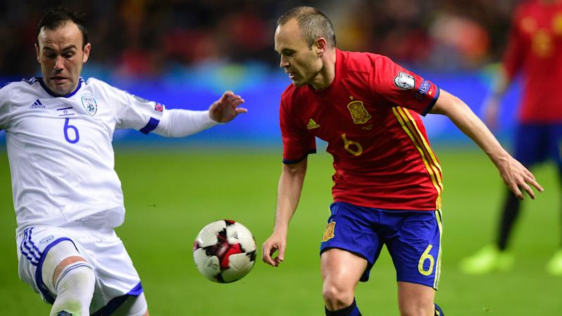 Andres Iniesta Spain Israel WC Qualifier