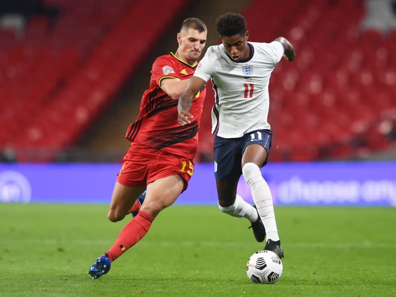 England surprise Belgium with 2-1 Nations League win at Wembley