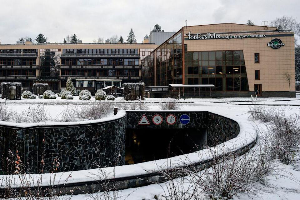 <p>In colder times! The forRestMix club hotel seen in December last year. (GETTY) </p>