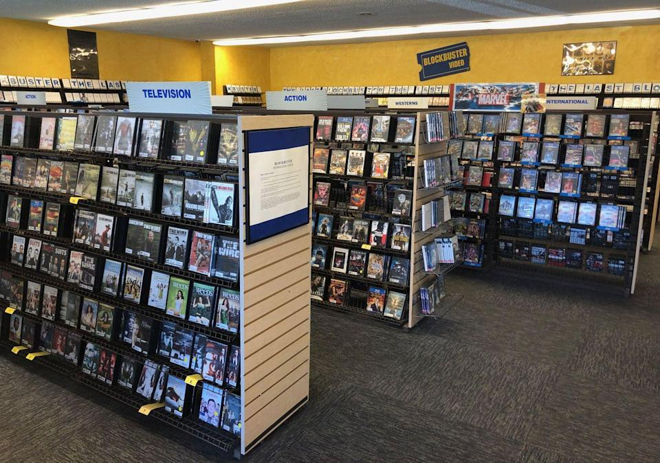 <p>In order to stock Blockbuster's shelves with all the latest titles, every Tuesday, Sandi Harding, who has been the general manager at the store since 2004, takes a trip to the nearby Target to grab all the new DVD/Blu-ray releases. If she can't find a specific title in-store, she turns to Amazon to fulfill the customer's needs. </p><p>Source: <em>The Last Blockbuster </em>(2020)</p>