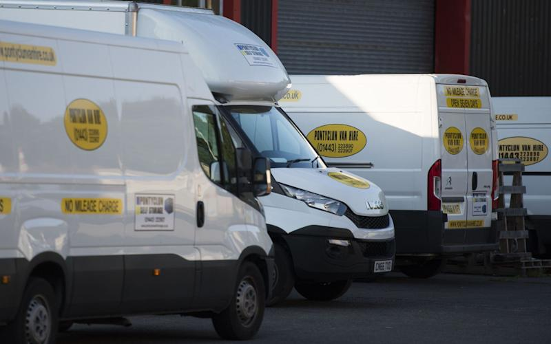 Pontyclun Van Hire at the East Side Cambrian Industrial Estate on June 19, 2017 in Pontyclun, Wales - Credit: Matthew Horwood/Getty