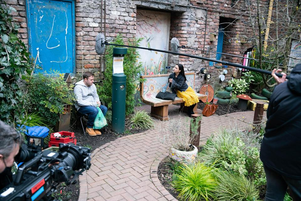 The actors filmed the scene separately (Danielle Baguley/ITV)
