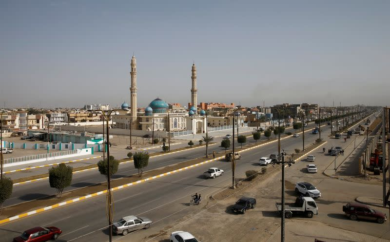 A view shows streets in Falluja