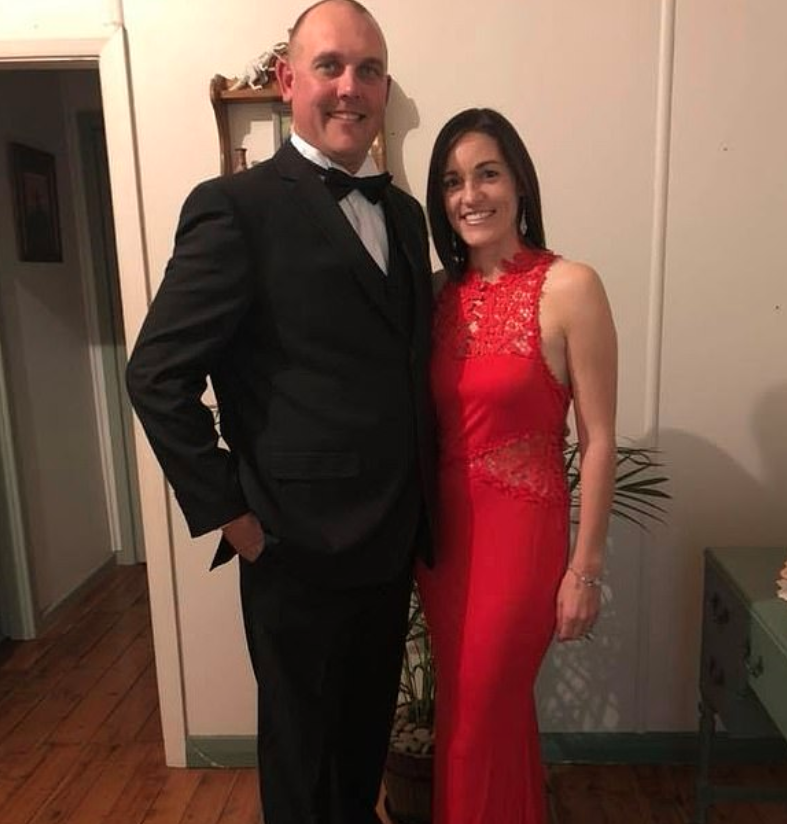 Brad Crane and Stacie Marmion dressed up from Farmer Wants A Wife