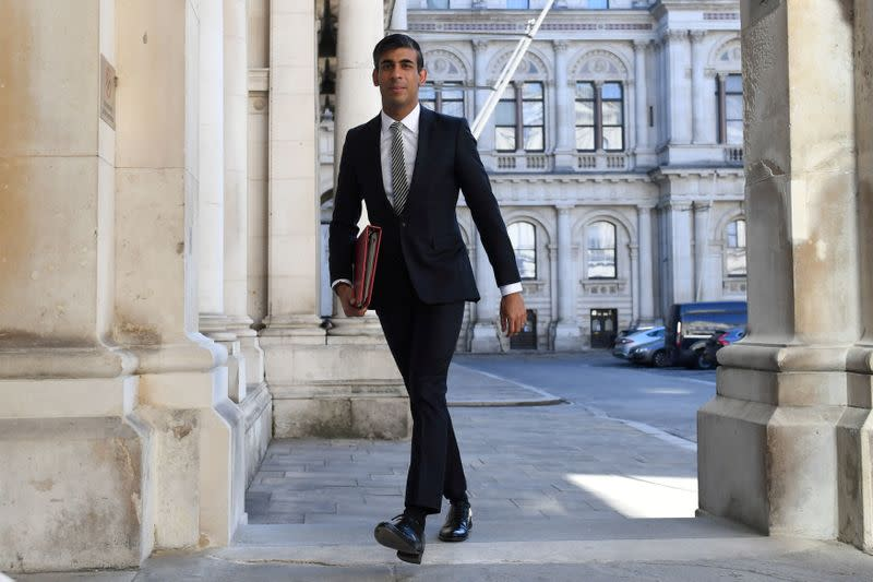 FILE PHOTO: Britain's Chancellor of the Exchequer Rishi Sunak arrives at the Foreign and Commonwealth Office