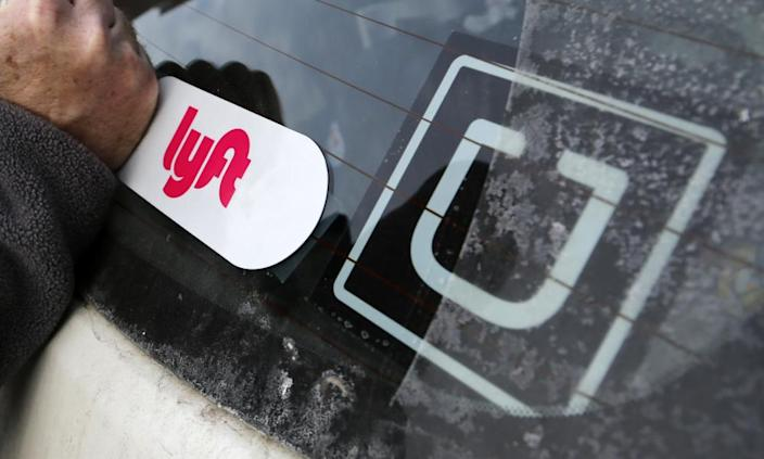 """<span class=""""element-image__caption"""">The pandemic has created challenges for Uber and Lyft.</span> <span class=""""element-image__credit"""">Photograph: Gene J Puskar/AP</span>"""