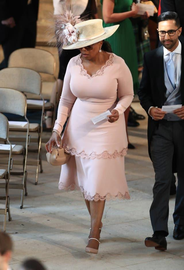 Oprah Winfrey attending Harry and Meghan's wedding. Danny Lawson/PA Wire