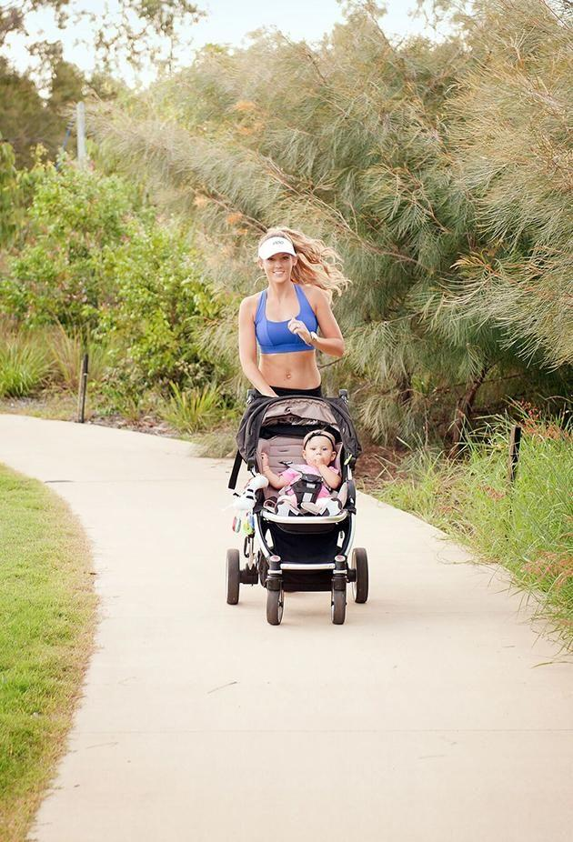 Exercising daily with Quinn has become part of the new mum's routine. Image: Caters
