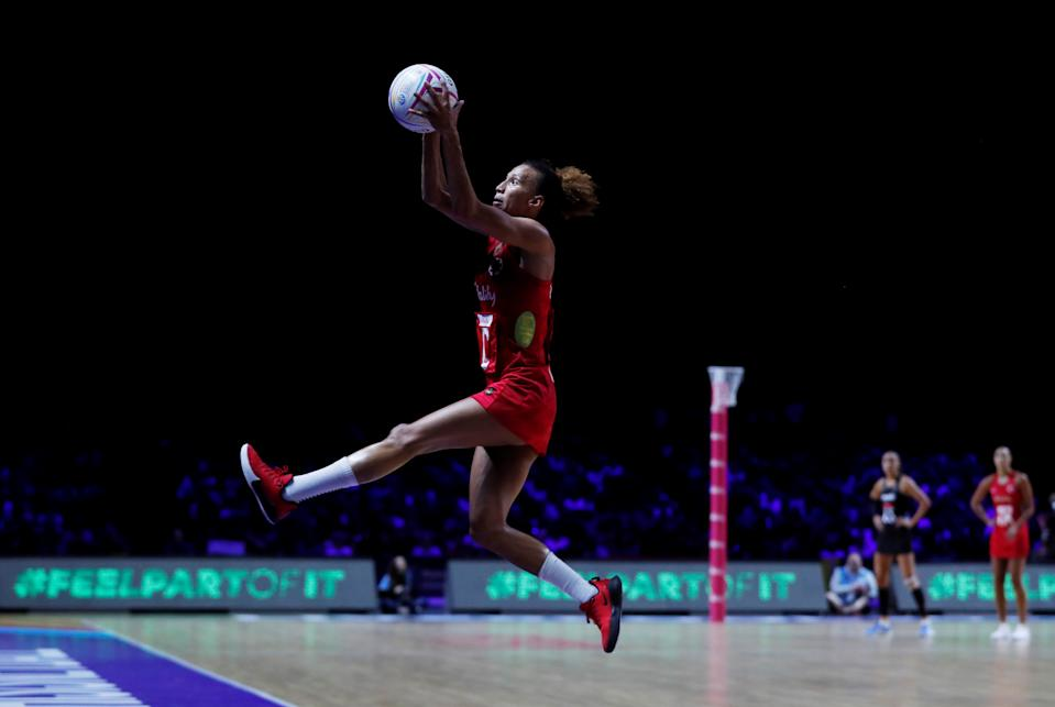 England's Serena Guthrie in action.  REUTERS/Lee Smith
