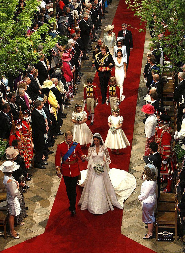 "<p>In addition to the decadent flowers, florist Shane Connelly also designed the interior of Westminster Abbey to look like a mini forest, where flowers were sourced from royal estates like Windsor and Sandringham and trees were chosen, too.</p><p>The Maple trees were part of Kate's plan to simplify the wedding and show her country roots, he told the <a href=""https://www.bbc.co.uk/news/uk-13212487"" rel=""nofollow noopener"" target=""_blank"" data-ylk=""slk:BBC"" class=""link rapid-noclick-resp"">BBC</a>.</p><p>'The aim is the abbey looks unpretentious and simple and natural and that it reflects the fact that Catherine is a country girl at heart and that the couple are the best of British. The trees are field maples, which is a very English native tree and the field maples symbolise reserve and humility,' Connelly said. </p>"